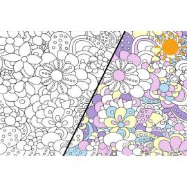Tissu jersey Photosensible Fleurs