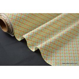 tissu popeline coton imprimé dessin kebull mixte .x1m