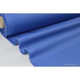 Véritable tissu gabardine Enduit bleu jean  .x1m