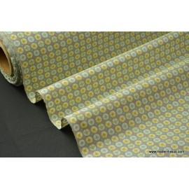 tissu popeline coton imprimé dessin avrey gris .x1m