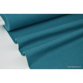 Tissu Flanelle unie PETROLE .x1m