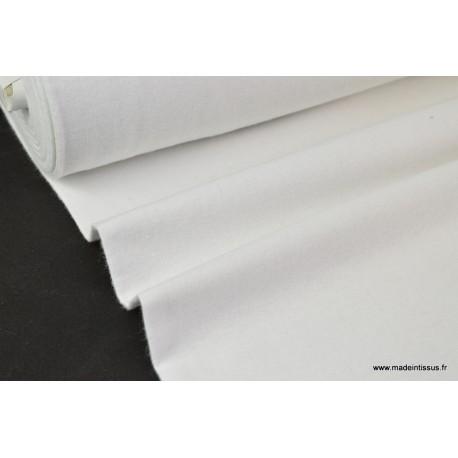 Tissu Flanelle unie BLANC .x1m