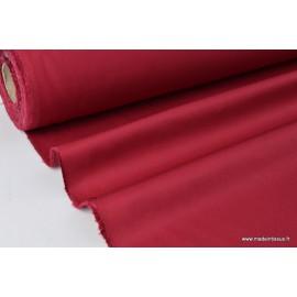 Tissu sergé coton mi-lourd rouge hermès 260gr/m²