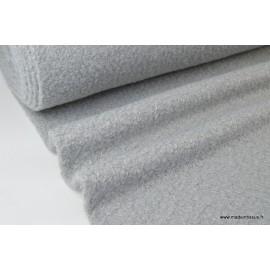 Tissu Lainage polyester Bouclette Gris