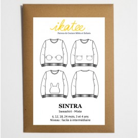 Patron SWEAT Mixte SINTRA by Ikatee du 6 mois au 4 ans