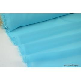Mousseline fluide polyester ciel x50cm
