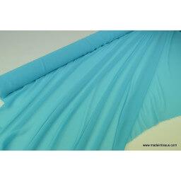 Tissu Mousseline fluide polyester ciel x50cm