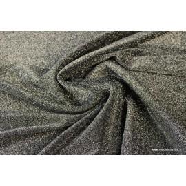 Tissu Maille tricoté NOIR lurex brillant