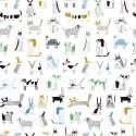 Tissu popeline Oeko tex imprimé chiens et chats rebels à masques collection Mask Rebels Katia Fabrics