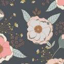 Tissu coton imprimé fleurs roses et menthe collection Sparkler by Art Gallery Fabrics .x1m