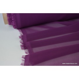 Mousseline fluide polyester prune x50cm