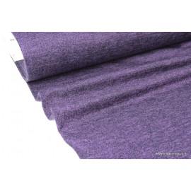 Tissu Maille tricoté Aubergine lurex polyester elasthanne