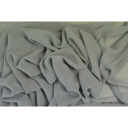 tissu Mousseline fluide polyester gris x50cm