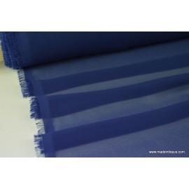 Mousseline fluide polyester marine x50cm