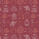 Popeline coton prenium imprimé garde robe Miss Ditzy rouge collection Little Clementine by Art Gallery Fabrics .x1m