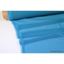 Mousseline fluide polyester bleu/vert  x50cm