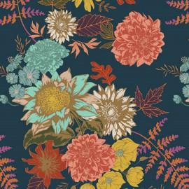 Tissu Popeline coton prenium Floral Glow Twilit collection Autumn Vibesby Art Gallery Fabrics .x1m