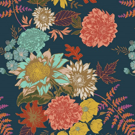Tissu Popeline coton prenium Floral Glow Twilit collection Autumn Vibesby Art Gallery Fabrics .x1m