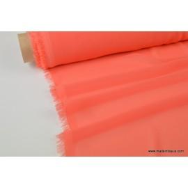 Mousseline fluide polyester corail x50cm