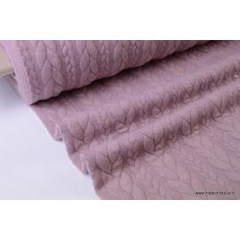 Tissu Jersey matelassé Torsadé coloris Vieux rose