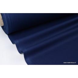 Tissu Popeline coton oeko tex uni marine au mètre