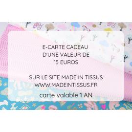 Carte cadeau - Valeur 15€