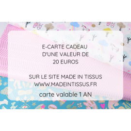 Carte cadeau - Valeur 20€