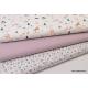 Tissu popeline Oeko tex imprimé Licornes, sapins et fleurs