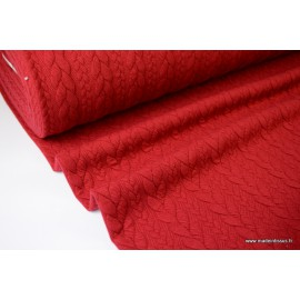 Tissu Jersey Torsadé coloris Rouge Hermès