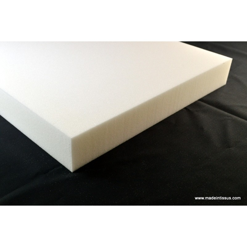 Plaque de mousse polyur thane 5cm 50cmx50cm made in tissus - Plaque de mousse polyurethane ...
