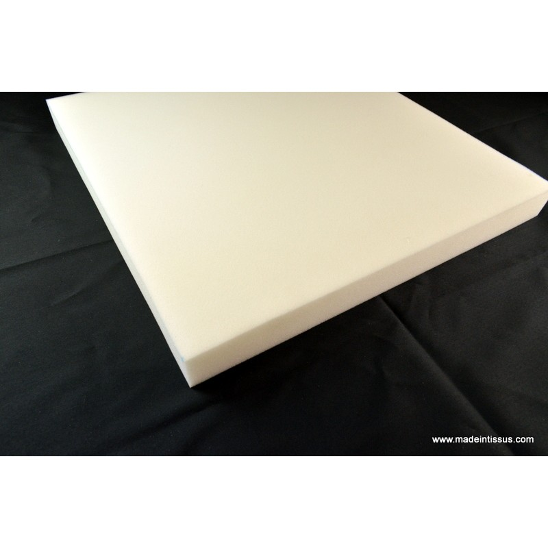 Plaque de mousse polyur thane 7cm 50cmx50cm made in tissus - Plaque de mousse polyurethane ...