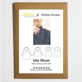 Pochette patron Robe, blouse ou t-shirt IDA MUM by Ikatee