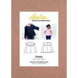 Pochette patron Gilet / veste IRMA pour fille by Ikatee
