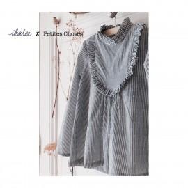 Pochette patron Robe, blouse ou t-shirt IDA pour fille by Ikatee