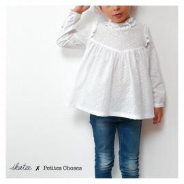 Pochette patron Robe ou blouse LOUISE pour fille by Ikatee