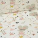 Tissu Jersey imprimé Princesse Souricette Rose