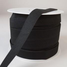 Elastique Maille 20mm Noir