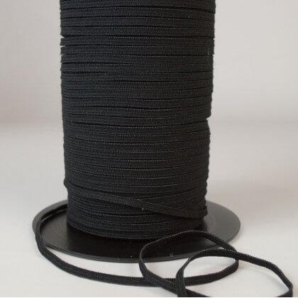 Elastique Maille 4mm Noir