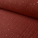Tissu Double gaze coton Glitter à pois OR coloris Tomette