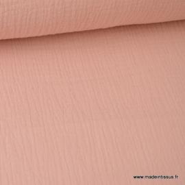 Tissu Double gaze coton Nude.x1m