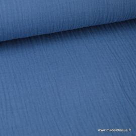 Tissu Double gaze 100% coton denim foncé