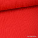 Tissu Double gaze coloris  rouge - Oeko tex