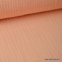 Tissu Double gaze coton saumon. x1m