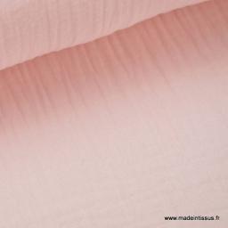 Double gaze coton Rose x50cm