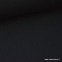 Tissu Double gaze coton noir