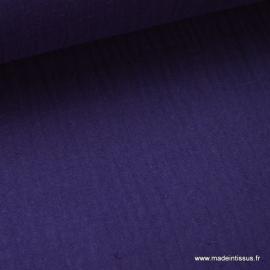 Tissu Double gaze coton violet
