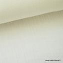 Tissu Double gaze coton Blanc cassé - Milk