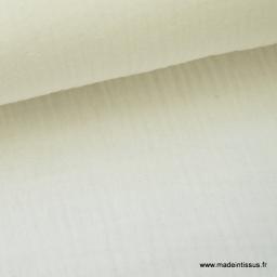 Double gaze coton Ivoire x50cm