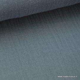Tissu Double gaze coton Anthracite .x1m