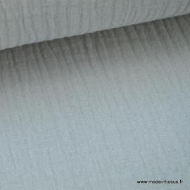 Tissu Double gaze coton Gris .x1m
